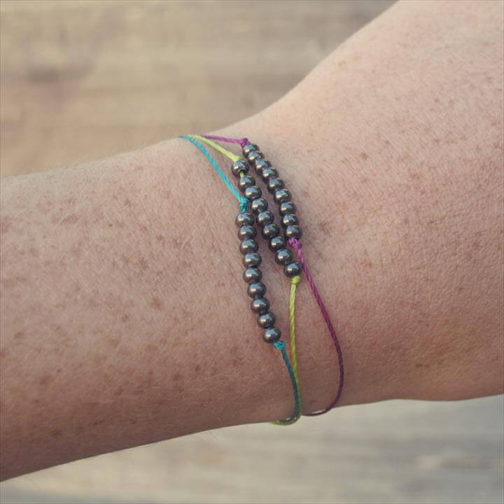 Dainty Metal Beaded Bracelets Tutorial