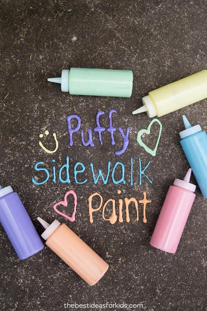 Puffy Sidewalk Paint The Best Ideas for Kids