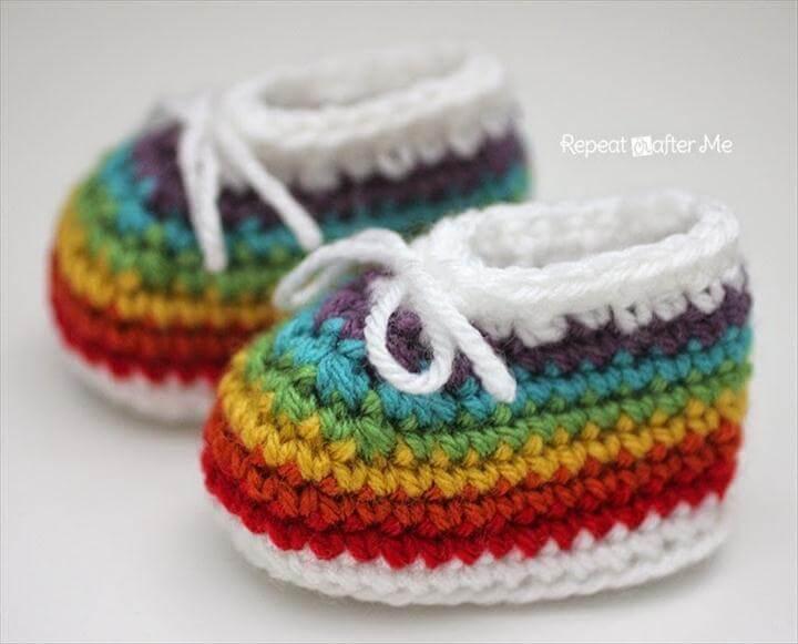 "Baby Booties ""Rainbow"""