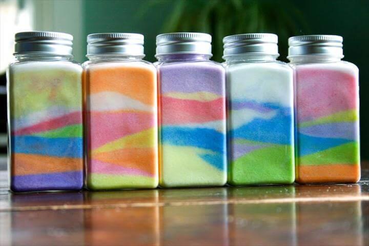 Rainbow Party DIY sand craft