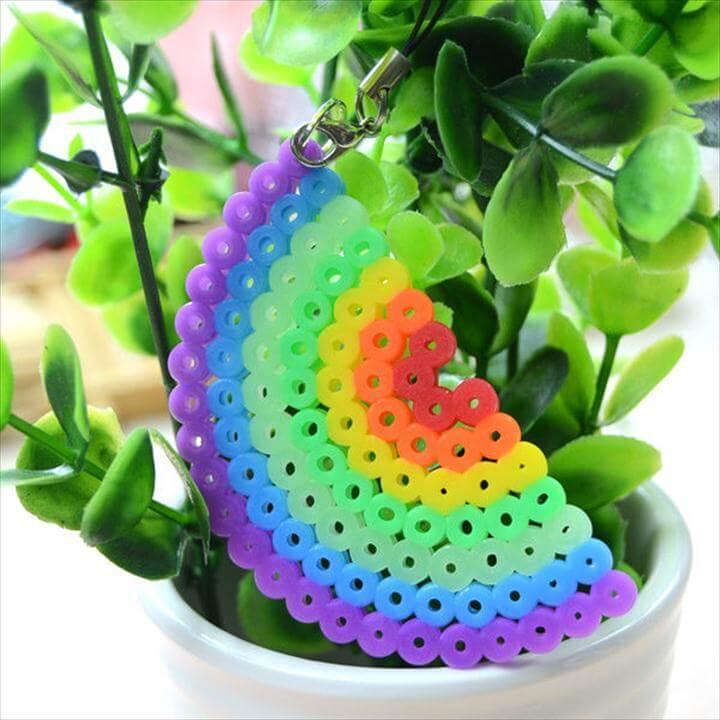 pearl bead rainbow design