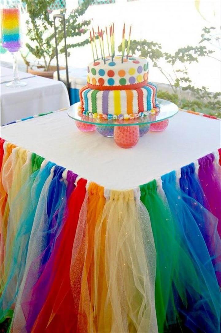 Rainbow Table Decor