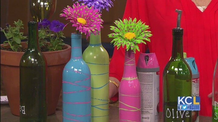 Spray Paint Bottle Craft