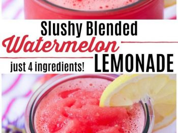 Slushy Blended Watermelon Lemonade