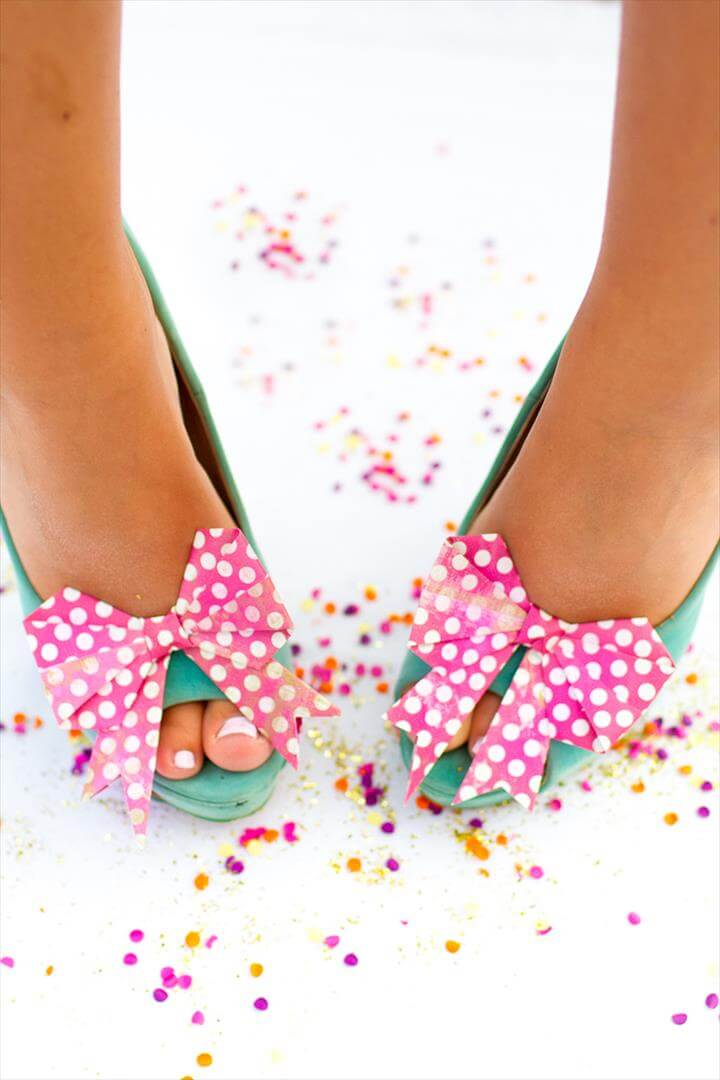DIY Origami Bow Shoe Clips