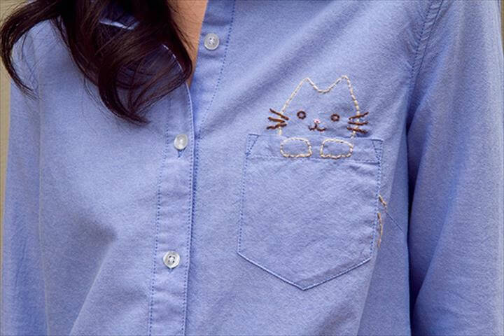 DIY Embroidered Shirt