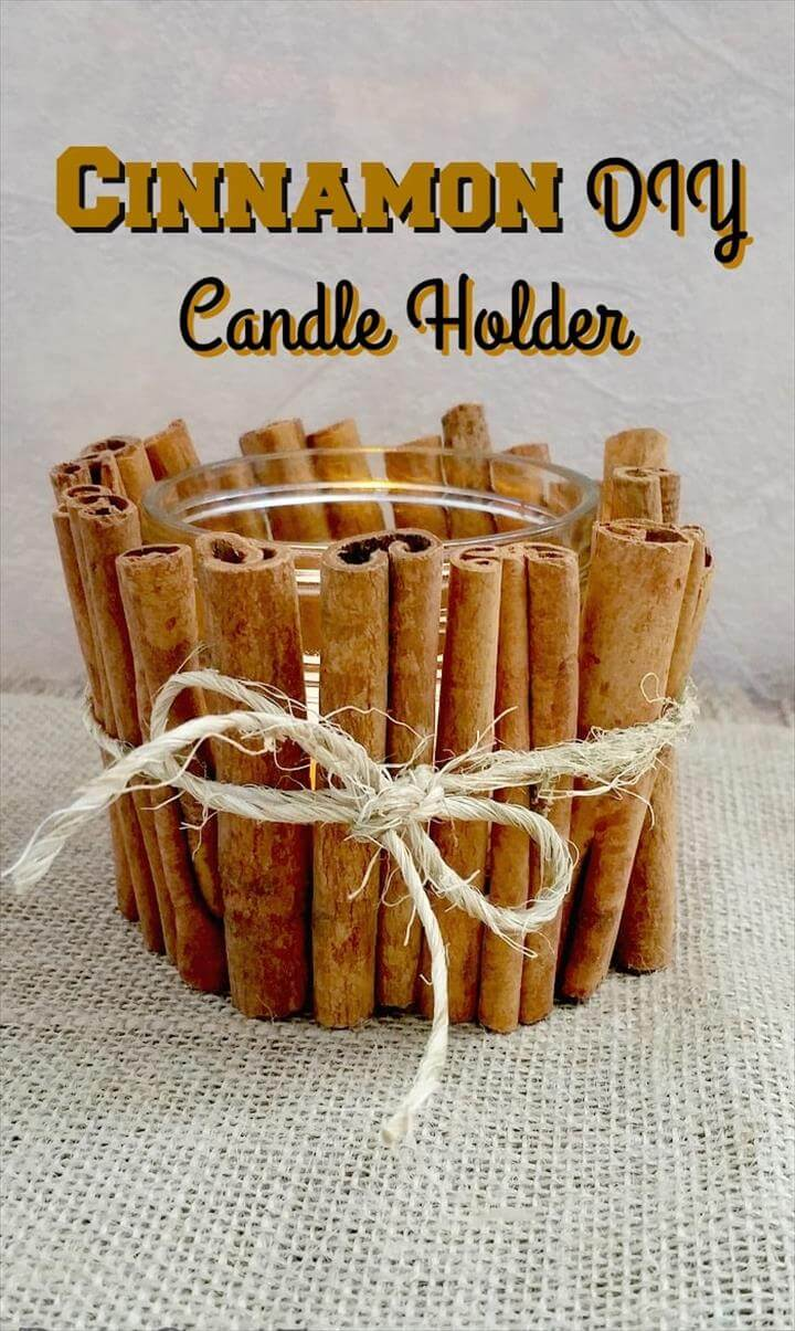 Cinnamon DIY Candle Holder