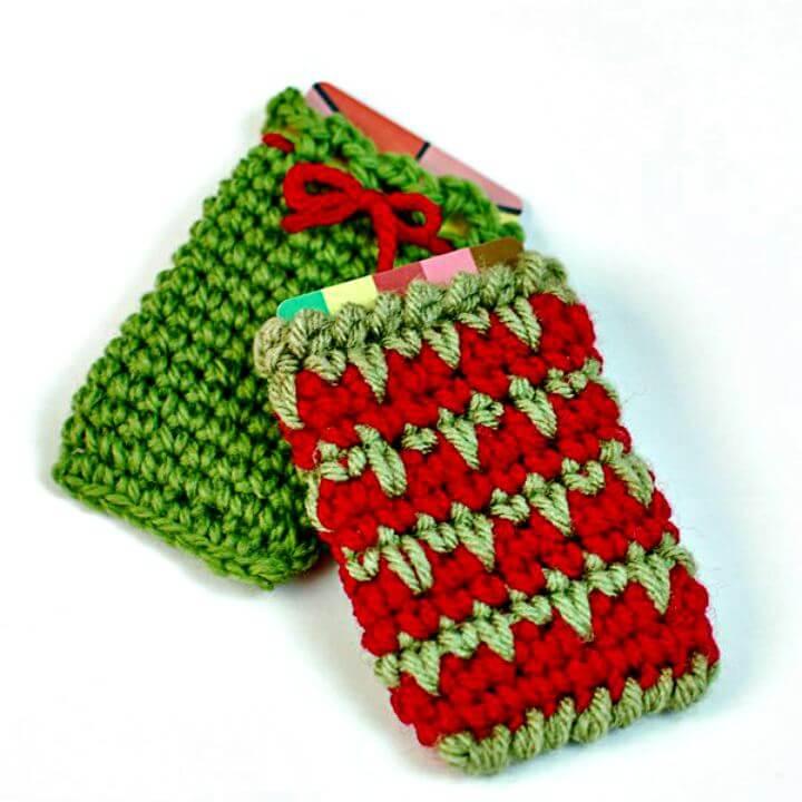 diy gift card crochet, diy card holder, diy crochet, diy projects, diy gift card holder