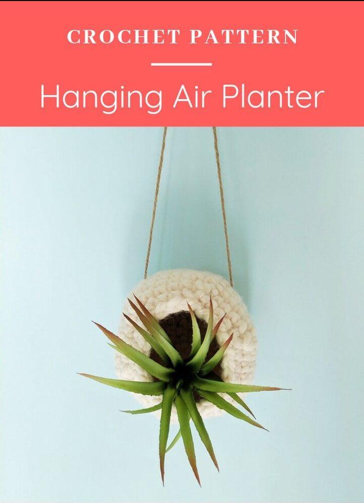 Crochet Hanging Air Planter