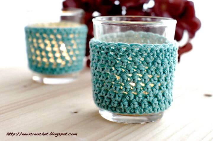 diy crochet, diy tealight covers, diy cozy mug idea, diy crafts projects
