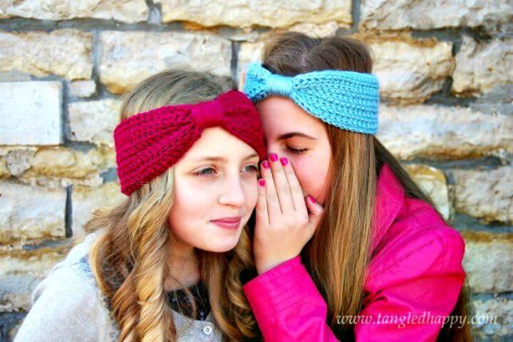 Crochet wrapped headband, diy crafts ideas, diy women crochet, diy crochet projects