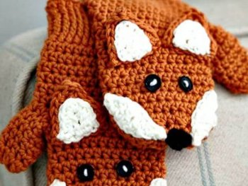 Child crochet, diy crochet, diy fox crochet, diy crochet for kids