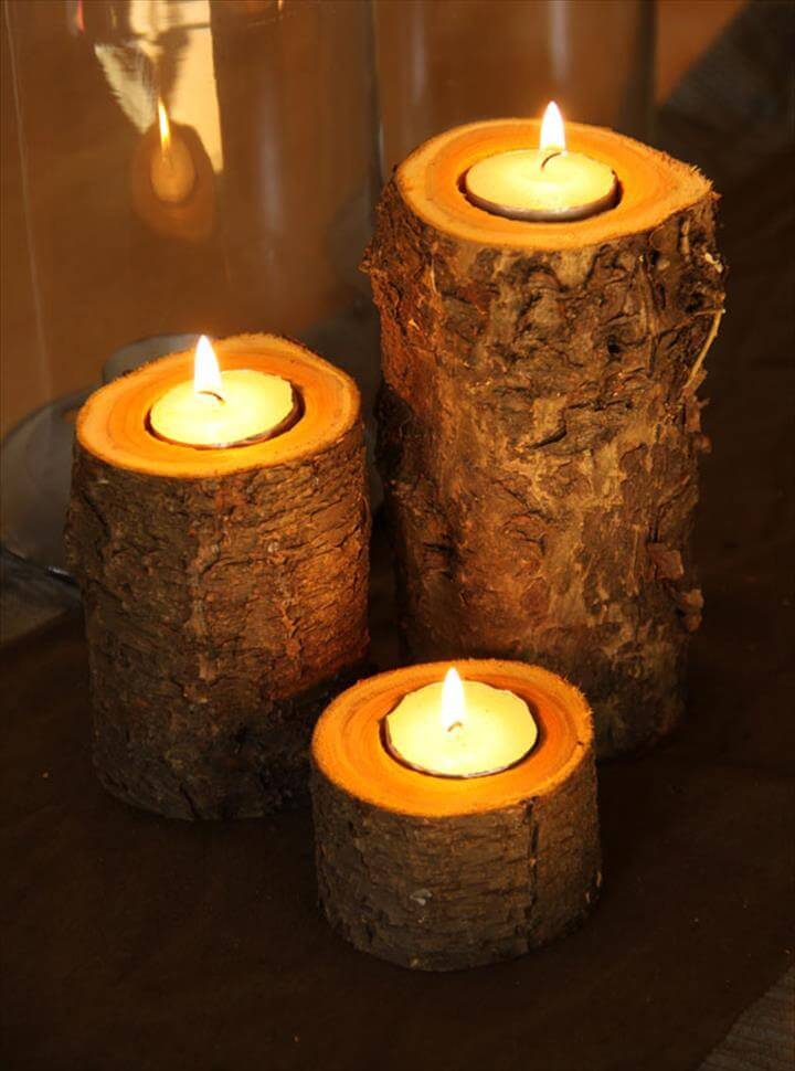 DIY Autumn Candle Holder