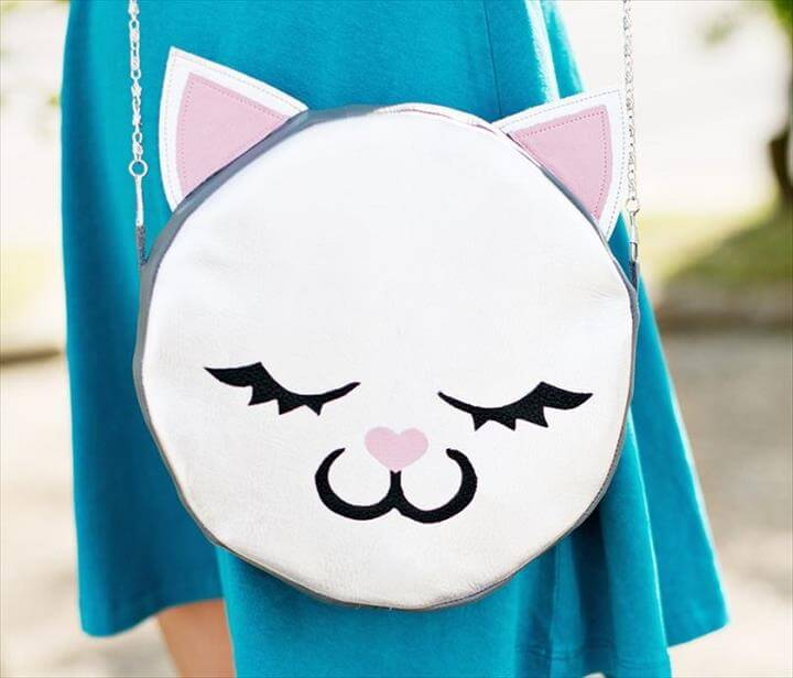 DIY cat face handbag