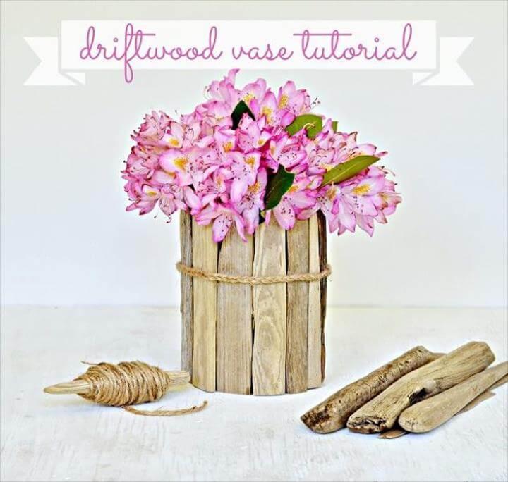 diy coastal decor how to make a driftwood vase, crafts, home decor, Love
