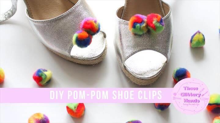DIY Pom-Pom Shoe Clips
