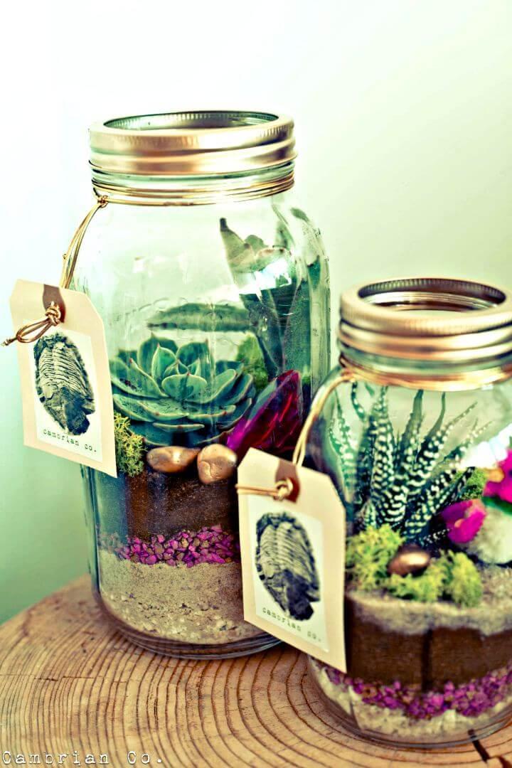 diy crafts, diy tiny garden mason jar, diy garden decor, diy mason jar projects