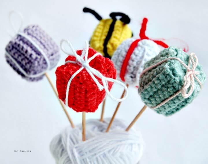 Crochet gift, diy gift pattern, diy gift box crochet, diy projects