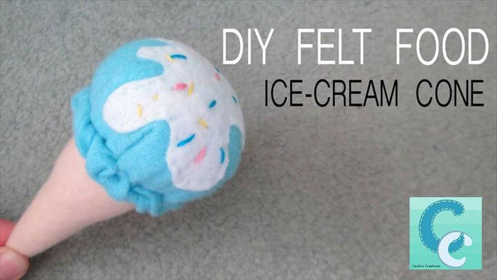 DIY Felt Food: Ice-Cream Cone