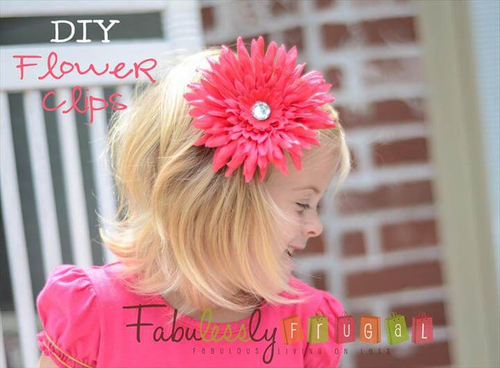 DIY Flower Clips {Picture Tutorial}