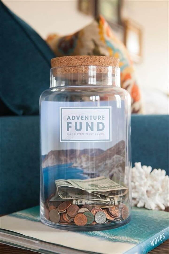 mason jar saving idea