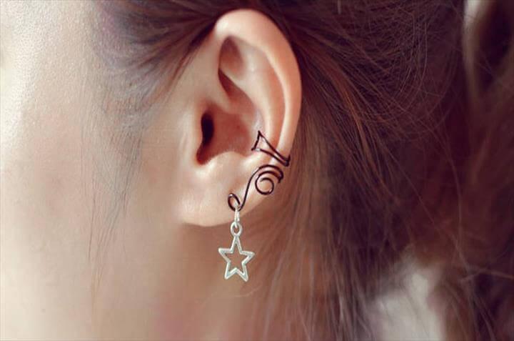 DIY Paper Clip Earrings