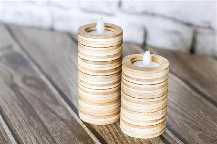 DIY candle holders made out of scrap plywood!