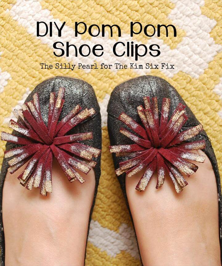 DIY Pom Pom Shoe Clips