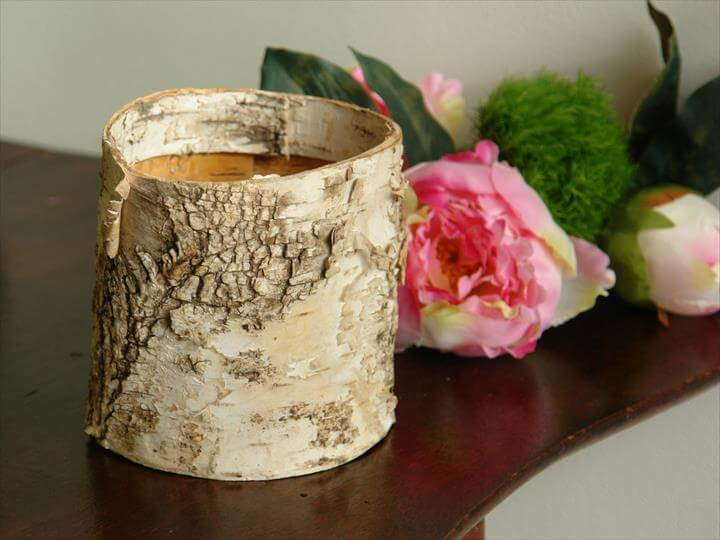small natural birch bark cylinder vases, wedding flower pot, rustic chic wedding, party centerpieces, baskets, home decor