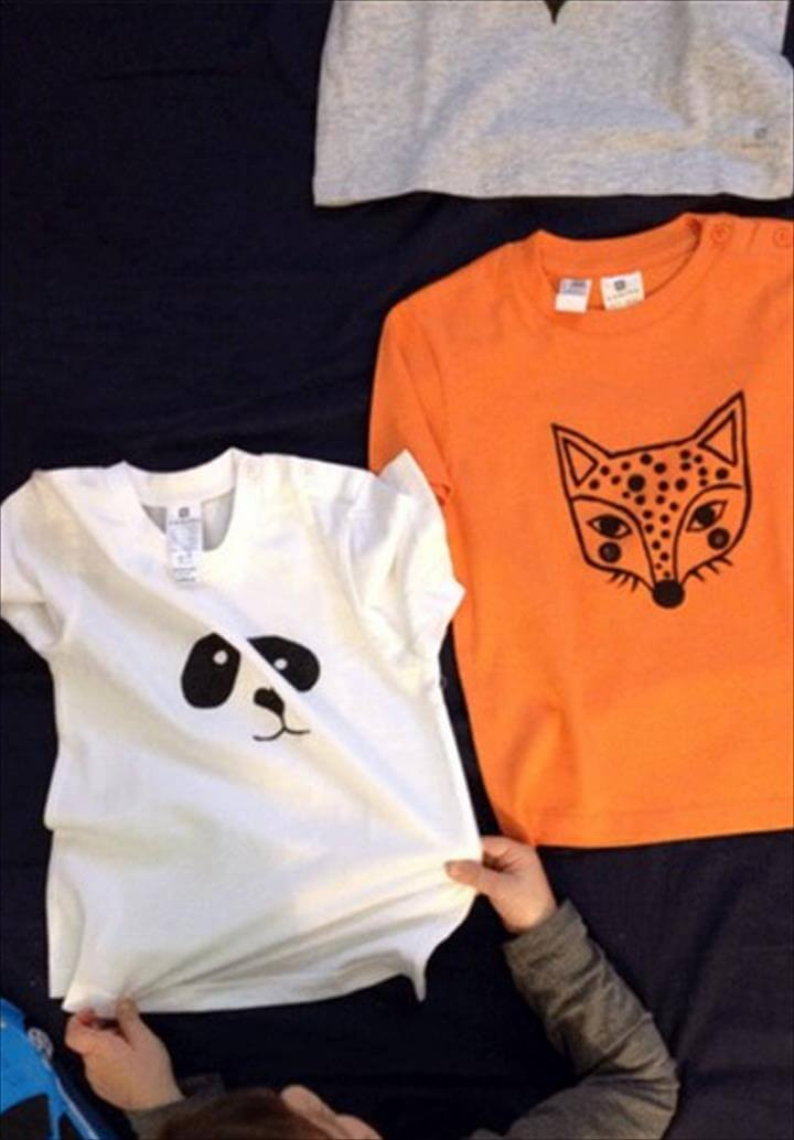 diy t-shirt ideas toddler fun panda eyes