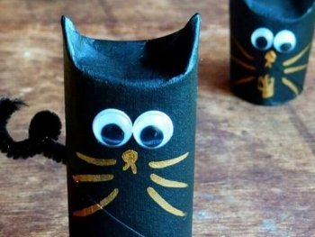 Diy toilet Paper Roll Cat toy