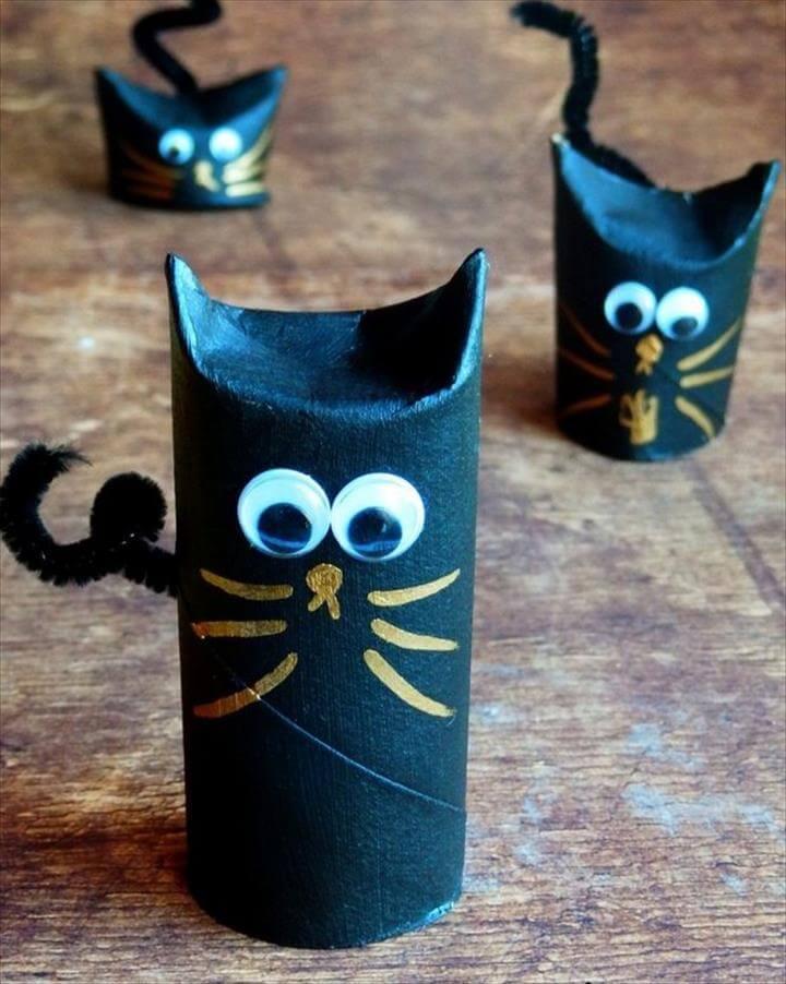 Diy toilet Paper Roll Cat toy