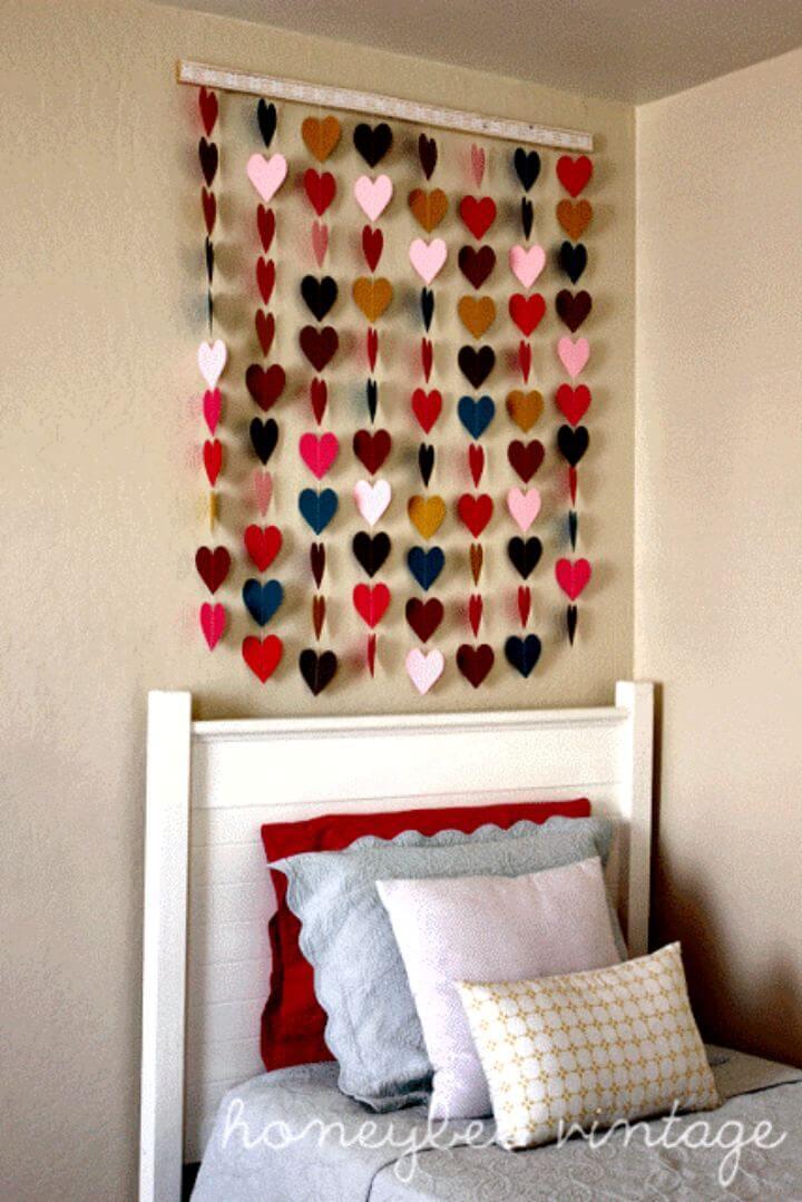 Heart Wall Art, wall art, diy art, diy crafts, diy papers, paper crafts, kid crafts