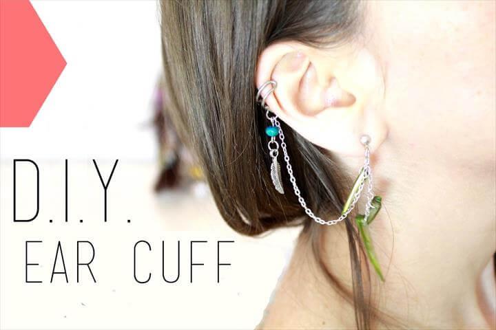 ear cuff, diy fashion, diy crafts, diy jewelry