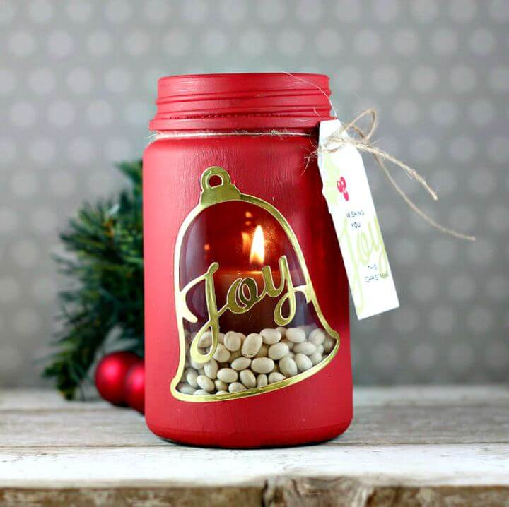 diy crafts, diy mason jar, festive holiday mason jar, diy crafts and projects