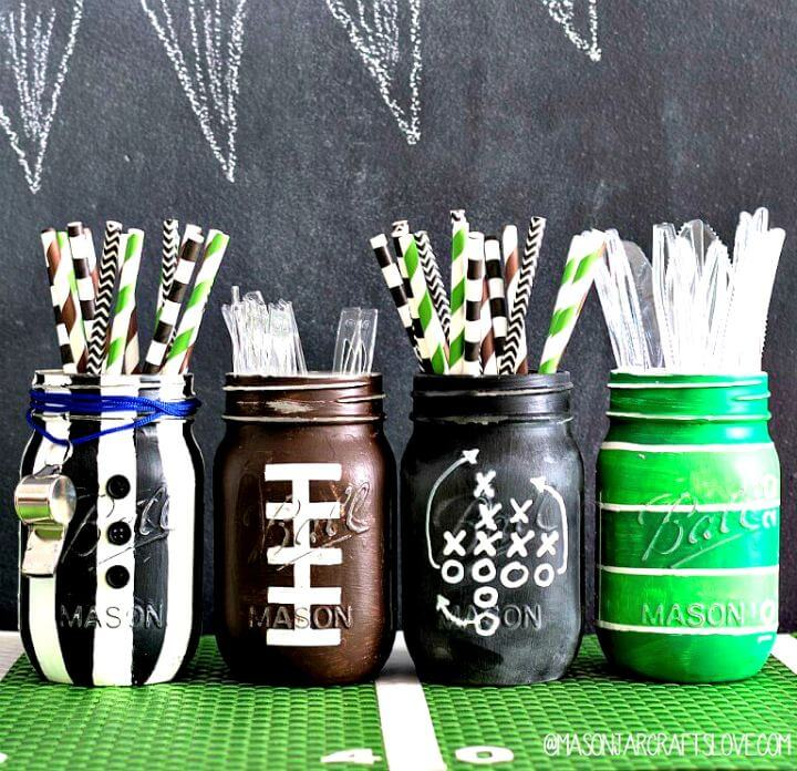 football party jar, diy mason jar, diy crafts, diy projects, diy mason jar ideas