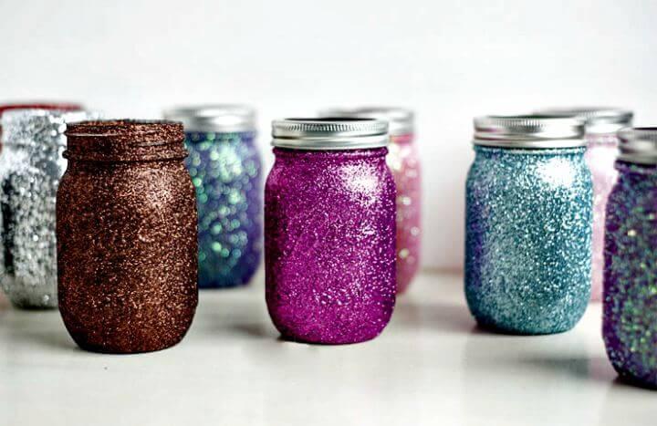 diy painted mason jar, diy colorful mason jar, diy crafts, diy crafts and projects