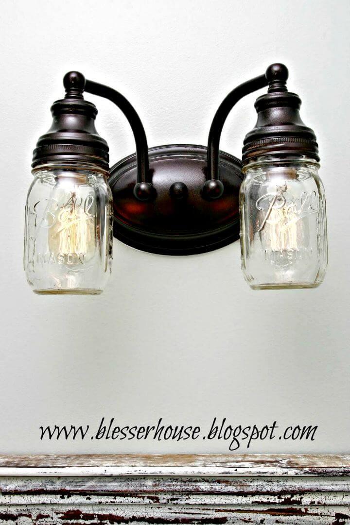 lightning mason jar, diy lightning mason jar, hanging mason jar, diy mason jar idea