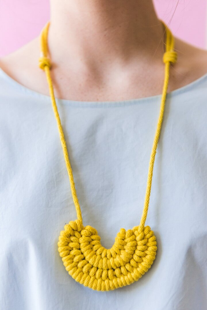 Make a DIY Knot Necklace