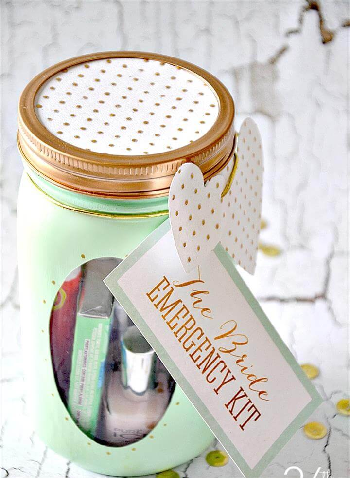 Mason Jar Crafts - Bride Emergency Kit