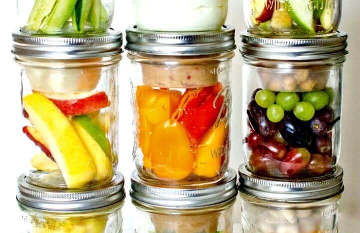diy crafts, snack pack mason jar, diy mason jar, diy projects