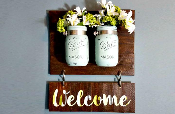 diy flower mason jars, diy welcome mason jars, diy hanging mason jars, diy creative mason jars