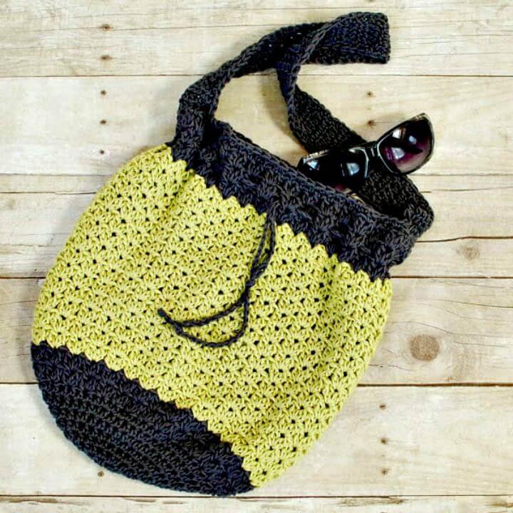 diy summer crochet, diy crochet idea, diy crochet bag, diy pattern crochet