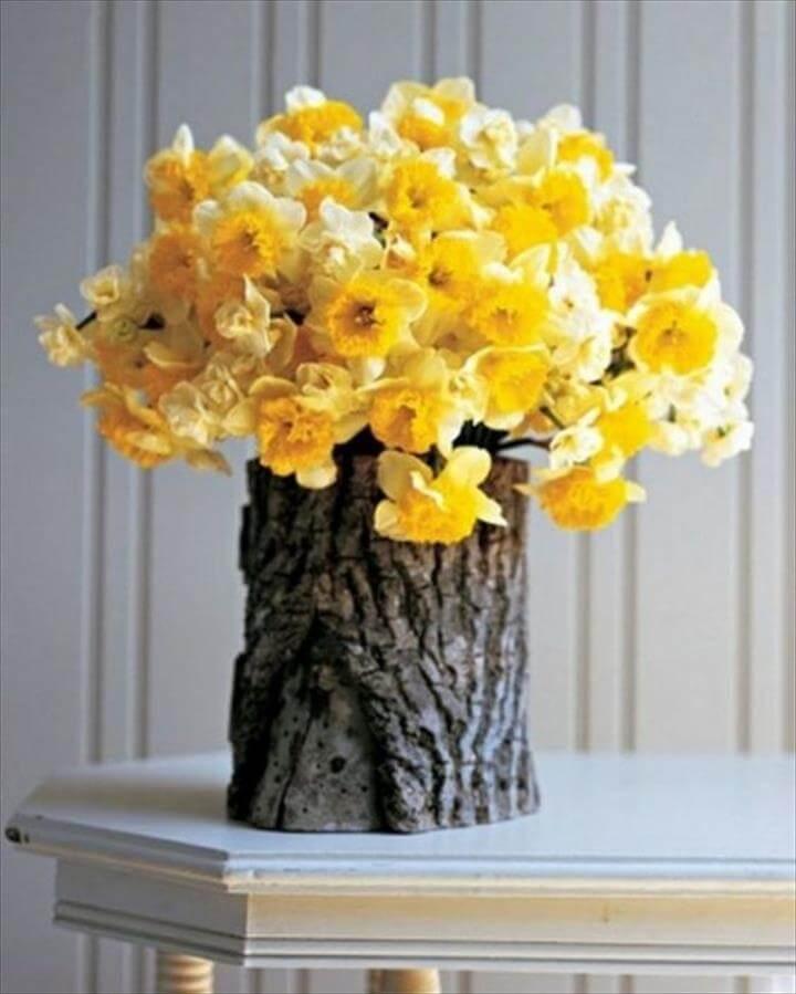 Tree Stump Vases