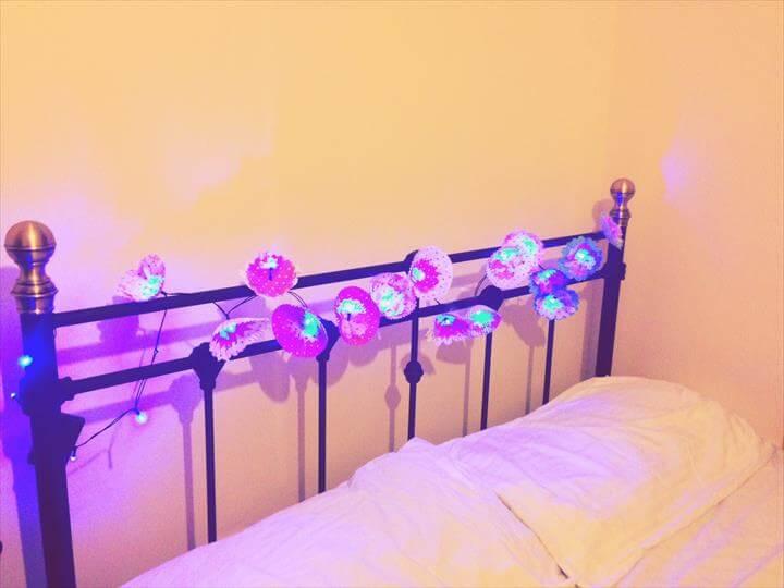 DIY Room Decor : Flower Lights/ Girls Bedroom Decor ideas