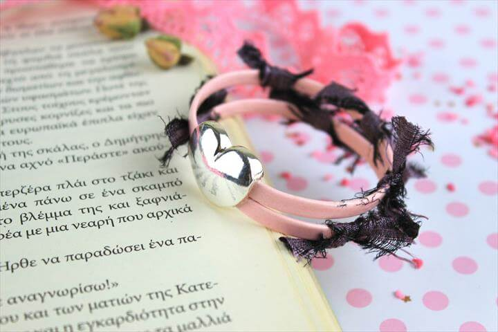 DIY Heart Leather Bracelet