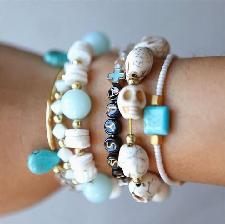 diy skull bracelet