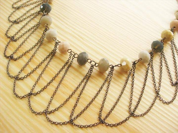 Draped Chain Necklace