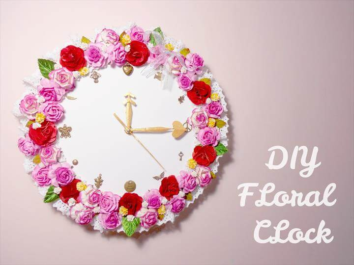 DIY Floral Clock - Room Decoration Idea