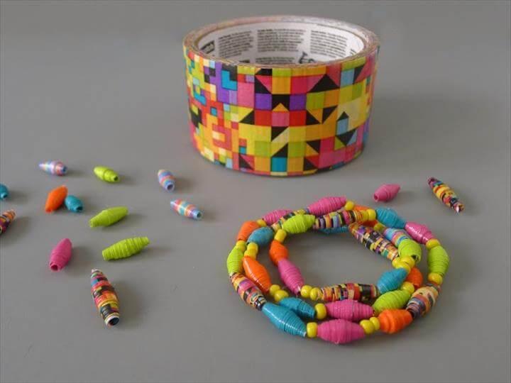 DIY Duct Tape Bead Bracelet